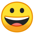 Grinning Face on Google Android 10.0 March 2020 Feature Drop