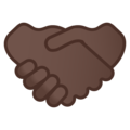 Handshake: Dark Skin Tone on Google Android 10.0 March 2020 Feature Drop