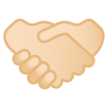 Handshake: Light Skin Tone on Google Android 10.0 March 2020 Feature Drop