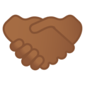 Handshake: Medium-Dark Skin Tone on Google Android 10.0 March 2020 Feature Drop