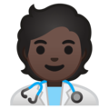 Health Worker: Dark Skin Tone on Google Android 10.0 March 2020 Feature Drop