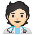 Health Worker: Light Skin Tone on Google Android 10.0 March 2020 Feature Drop