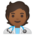Health Worker: Medium-Dark Skin Tone on Google Android 10.0 March 2020 Feature Drop