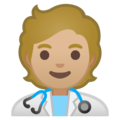 Health Worker: Medium-Light Skin Tone on Google Android 10.0 March 2020 Feature Drop