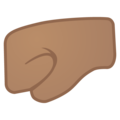 Left-Facing Fist: Medium Skin Tone on Google Android 10.0 March 2020 Feature Drop