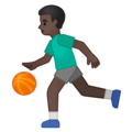 Man Bouncing Ball: Dark Skin Tone on Google Android 10.0 March 2020 Feature Drop