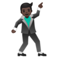 Man Dancing: Dark Skin Tone on Google Android 10.0 March 2020 Feature Drop