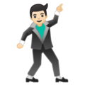 Man Dancing: Light Skin Tone on Google Android 10.0 March 2020 Feature Drop