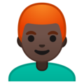 Man: Dark Skin Tone, Red Hair on Google Android 10.0 March 2020 Feature Drop