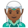 Man Elf: Medium-Dark Skin Tone on Google Android 10.0 March 2020 Feature Drop