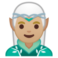 Man Elf: Medium-Light Skin Tone on Google Android 10.0 March 2020 Feature Drop