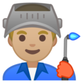Man Factory Worker: Medium-Light Skin Tone on Google Android 10.0 March 2020 Feature Drop