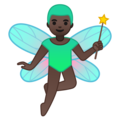 Man Fairy: Dark Skin Tone on Google Android 10.0 March 2020 Feature Drop