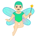 Man Fairy: Light Skin Tone on Google Android 10.0 March 2020 Feature Drop