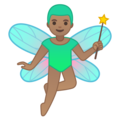 Man Fairy: Medium Skin Tone on Google Android 10.0 March 2020 Feature Drop