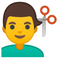 Man Getting Haircut on Google Android 10.0 March 2020 Feature Drop