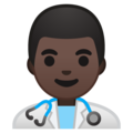 Man Health Worker: Dark Skin Tone on Google Android 10.0 March 2020 Feature Drop
