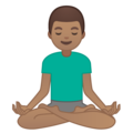 Man in Lotus Position: Medium Skin Tone on Google Android 10.0 March 2020 Feature Drop