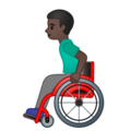 Man in Manual Wheelchair: Dark Skin Tone on Google Android 10.0 March 2020 Feature Drop