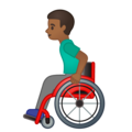 Man in Manual Wheelchair: Medium-Dark Skin Tone on Google Android 10.0 March 2020 Feature Drop