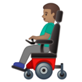 Man in Motorized Wheelchair: Medium Skin Tone on Google Android 10.0 March 2020 Feature Drop