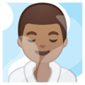 Man in Steamy Room: Medium Skin Tone on Google Android 10.0 March 2020 Feature Drop