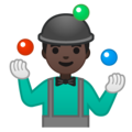 Man Juggling: Dark Skin Tone on Google Android 10.0 March 2020 Feature Drop
