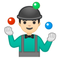 Man Juggling: Light Skin Tone on Google Android 10.0 March 2020 Feature Drop