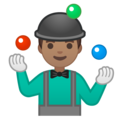 Man Juggling: Medium Skin Tone on Google Android 10.0 March 2020 Feature Drop