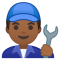 Man Mechanic: Medium-Dark Skin Tone on Google Android 10.0 March 2020 Feature Drop