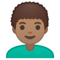 Man: Medium Skin Tone, Curly Hair on Google Android 10.0 March 2020 Feature Drop