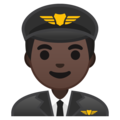 Man Pilot: Dark Skin Tone on Google Android 10.0 March 2020 Feature Drop