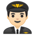 Man Pilot: Light Skin Tone on Google Android 10.0 March 2020 Feature Drop