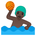 Man Playing Water Polo: Dark Skin Tone on Google Android 10.0 March 2020 Feature Drop