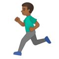 Man Running: Medium-Dark Skin Tone on Google Android 10.0 March 2020 Feature Drop