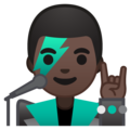 Man Singer: Dark Skin Tone on Google Android 10.0 March 2020 Feature Drop