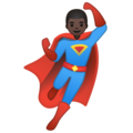 Man Superhero: Dark Skin Tone on Google Android 10.0 March 2020 Feature Drop