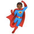 Man Superhero: Medium-Dark Skin Tone on Google Android 10.0 March 2020 Feature Drop