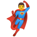 Man Superhero on Google Android 10.0 March 2020 Feature Drop