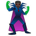 Man Supervillain: Dark Skin Tone on Google Android 10.0 March 2020 Feature Drop