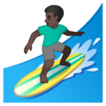 Man Surfing: Dark Skin Tone on Google Android 10.0 March 2020 Feature Drop