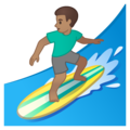 Man Surfing: Medium Skin Tone on Google Android 10.0 March 2020 Feature Drop
