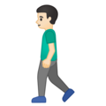 Man Walking: Light Skin Tone on Google Android 10.0 March 2020 Feature Drop