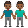 Men Holding Hands: Medium-Dark Skin Tone on Google Android 10.0 March 2020 Feature Drop