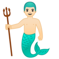 Merman: Light Skin Tone on Google Android 10.0 March 2020 Feature Drop