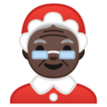 Mrs. Claus: Dark Skin Tone on Google Android 10.0 March 2020 Feature Drop