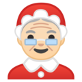 Mrs. Claus: Light Skin Tone on Google Android 10.0 March 2020 Feature Drop