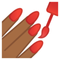 Nail Polish: Medium-Dark Skin Tone on Google Android 10.0 March 2020 Feature Drop