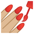 Nail Polish: Medium-Light Skin Tone on Google Android 10.0 March 2020 Feature Drop
