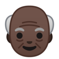 Old Man: Dark Skin Tone on Google Android 10.0 March 2020 Feature Drop